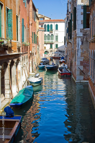 A typical canal in Venice and a bridge © Sailorr