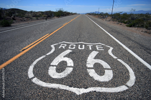 Wall Murals Route 66 Desert road Route 66 california