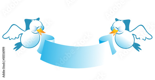 Two Birds Holding A Banner Buy This Stock Vector And Explore Similar Vectors At Adobe Stock Adobe Stock