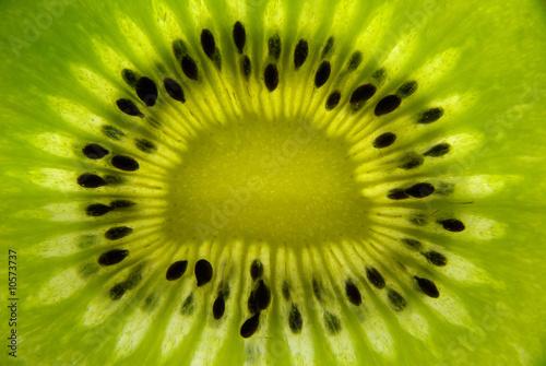 Spoed Foto op Canvas Plakjes fruit Kiwifruit detail