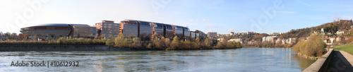 Photo panorama de la cité internationale au bord du rhône