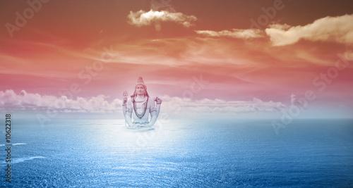Obraz na plátně Hindu God Shiva