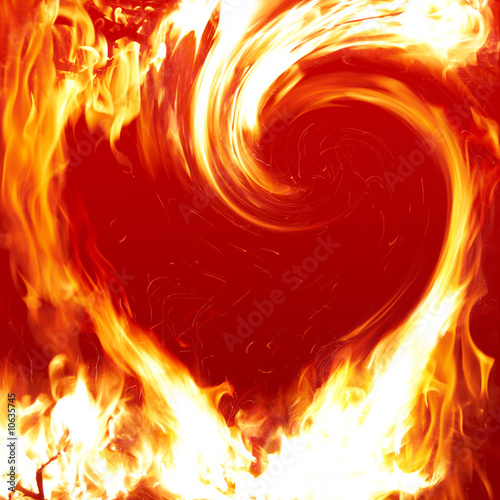 Recess Fitting Flame Fire heart