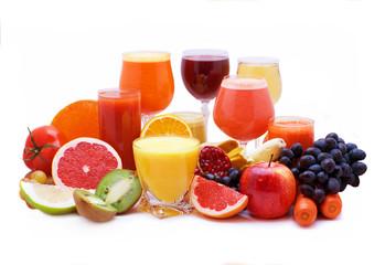 Fototapeta Fruit and vegetable juice