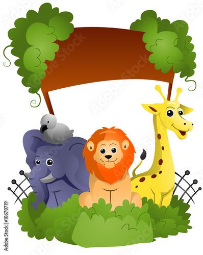 Poster de jardin Zoo Zoo