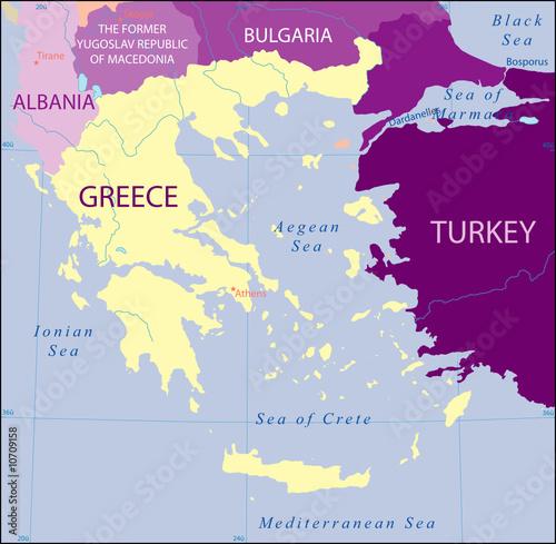 Turkey And Greece Map.Greece Turkey Albania Bulgaria Macedonia Map Buy This Stock Vector