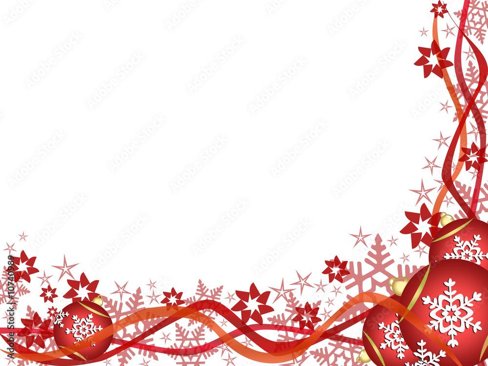 Red White Christmas Ornaments 2 Foto Poster Wandbilder Bei