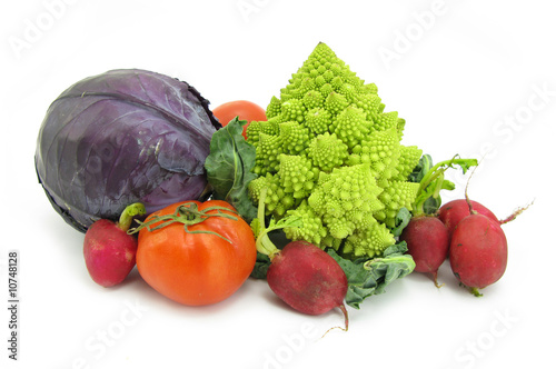 Fotografie, Obraz  Cauliflower Romanesco broccoli and vegetables
