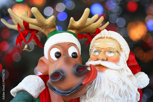 Photo Santa Claus and reindeer