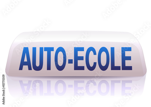 Enseigne d auto-école bleu et blanc (reflet) - Buy this stock vector ... 50aeb82e5126