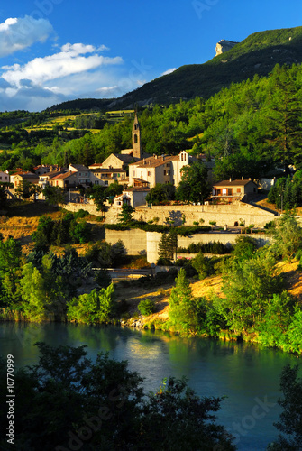 Recess Fitting Castle Town of Sisteron in Provence, France