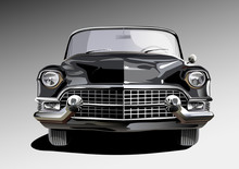 Schwarzes Cabriolet Aus Den Fünfzigern