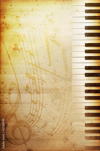 Obraz na plátně  old piano paper