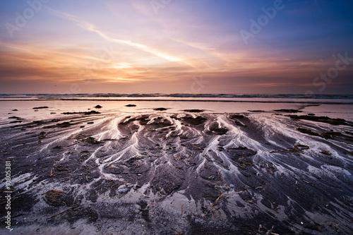 canvas print motiv - Eric Gevaert : sunset on the beach