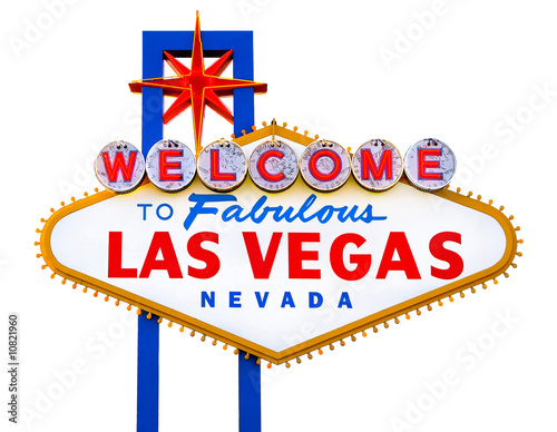 Deurstickers Las Vegas Welcome to Fabulous Las Vegas isolated sign