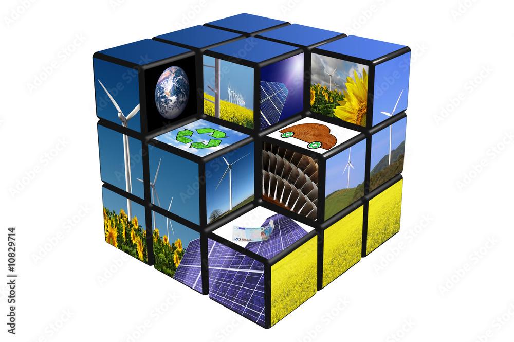 Fototapeta cube écologique