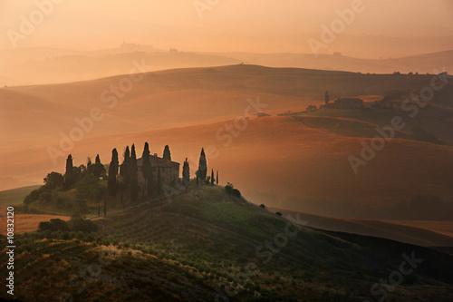 Deurstickers Toscane morgengrauen