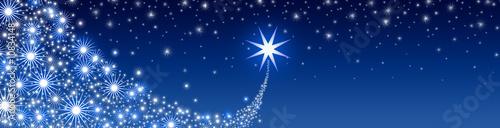 Photo Stella cometa su sfondo blu