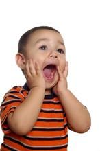 Two-year-old Hispanic Boy Shouting
