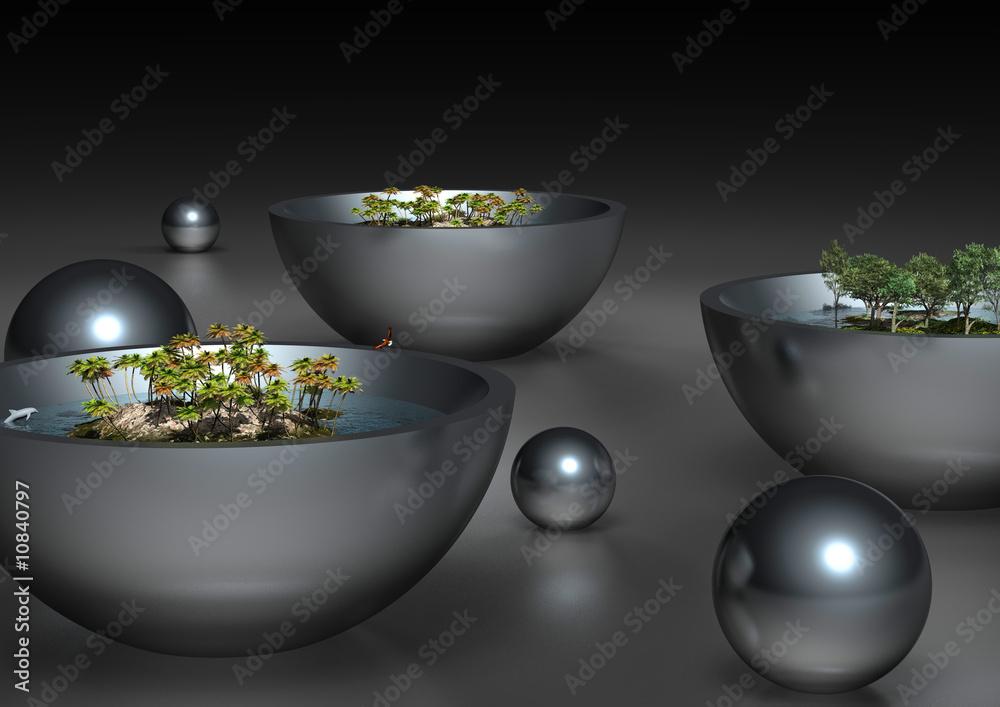 cr dence de cuisine en verre imprim welten nikkel. Black Bedroom Furniture Sets. Home Design Ideas