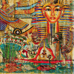 Fototapeta Abstrakcja vintage egyptian abstraction
