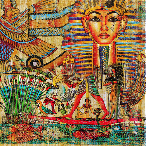 vintage egyptian abstraction Wallpaper Mural