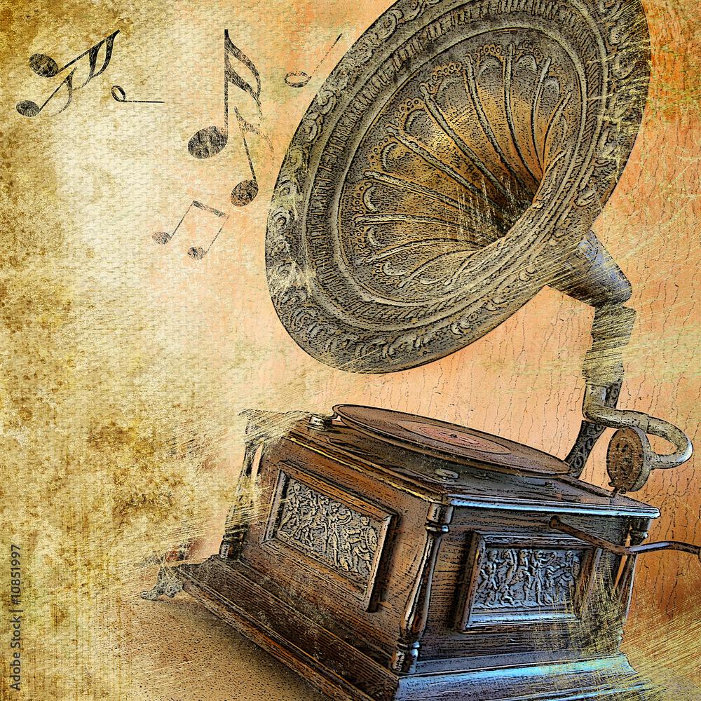 Fototapety, obrazy: musical retro