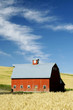 canvas print picture - Red Country Barn