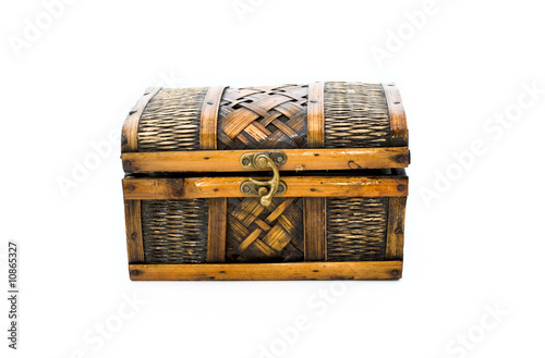 Tuinposter Egypte ornament boxes of white background isolate.