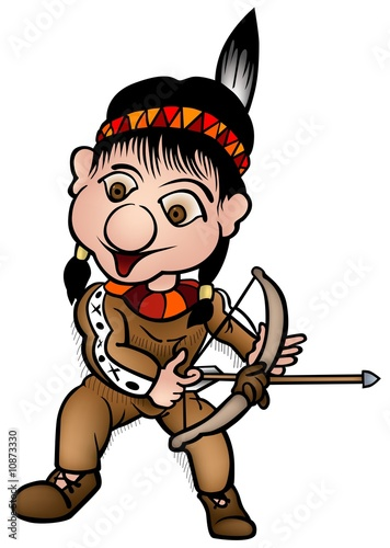 Indian 02 - colored cartoon illustration