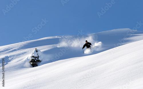 skieur poudreuse 1 Tablou Canvas