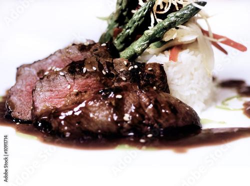 A gourmet fillet mignon steak at five star restaurant. Wallpaper Mural
