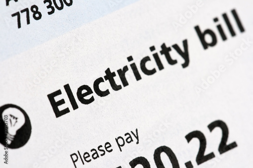 Electricity Bill Canvas-taulu