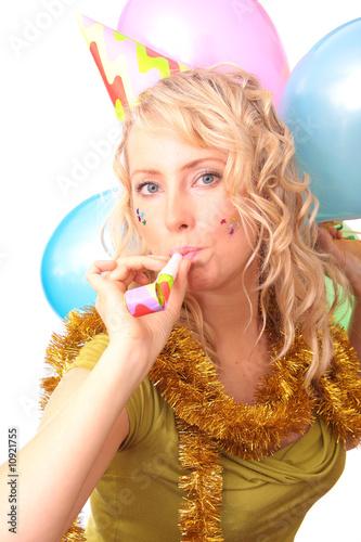 canvas print motiv - daniel rajszczak : Beautiful blonde the girl during the carnival