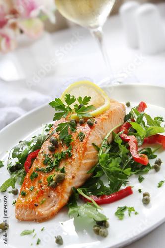Papiers peints Poisson Salmon Dinner