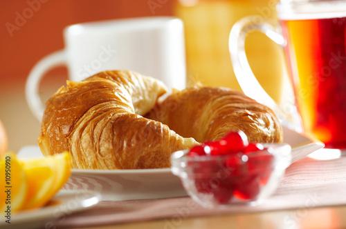 Fotografie, Obraz  Fresh French croissant for breakfast