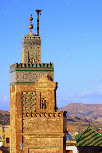 Fotografia, Obraz  Minarets dans la médina de Fez