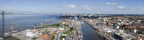 Photo sur Toile Europe Centrale Bremerhaven, Germany, Panorama