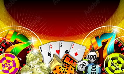фотография  gambling illustration with casino elements