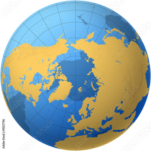 Globe over the north pole buy this stock illustration and explore globe over the north pole gumiabroncs Choice Image