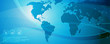 Globale Kommunikation-blau