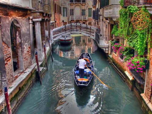 Foto op Canvas Venice Gondoliere a Venezia