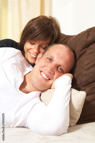 Cuddling On The Sofa
