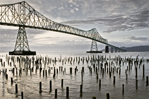 Astoria bridge and waterfront Canvas Print