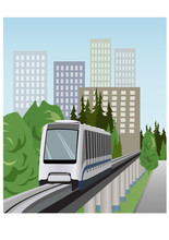 Monorail Train Vector