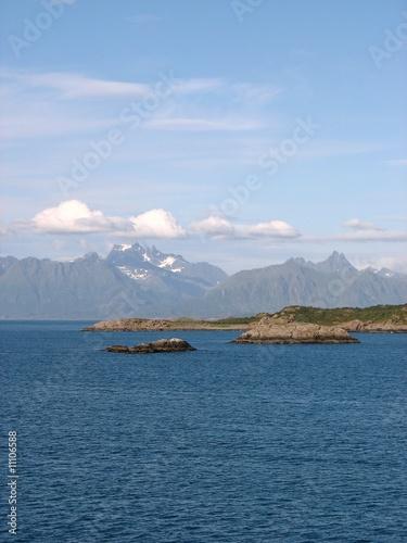 Photo  entre les lofoten et les vesteralen sur un bateau, norvège