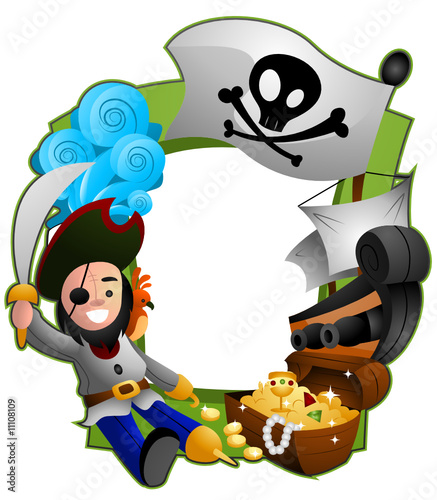 Poster de jardin Zoo Pirate Frame