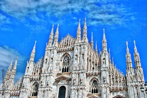 HDR Duomo Panorama Milano Wallpaper Mural