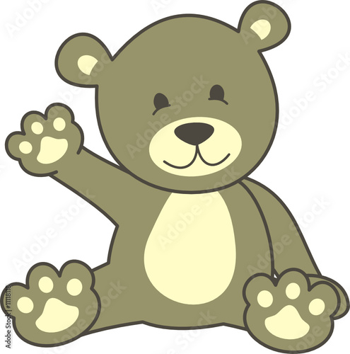 Wall Murals Bears oso saludo