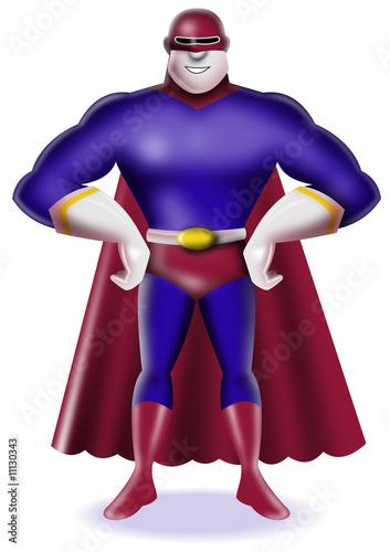 Photo  Superhero standing